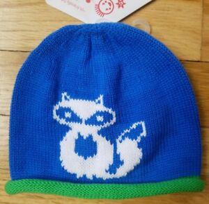NWT Hanna Andersson BLUE FOX Snug as a Bug Hat Cap XS 3-12 months