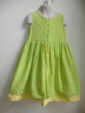 VINTAGE DU PAREIL AU ME ME DRESS size 6 YELLOW GREEN EMBROIDERED STUNNING