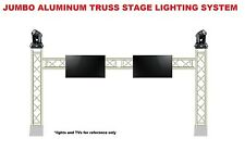 Complete 15ft Square Aluminum Truss TV Mount Lighting System DJ Lights Speakers