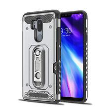 For LG G6 G7 Case Bumper Hybrid Hard PC Soft TPU Card Holder Rugged Armor Cover