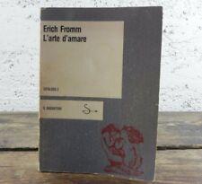 Erich Fromm L'arte d'amare CATALOGO 2 Il saggiatore Libro 1982 Saggistica Amore