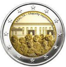 Malta 2 euro 2012 met munt meesterteken Rare