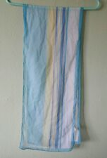 Vintage Made In Italy 100% Polyester Women'S Scarf Light Blu Yellow White Pastel