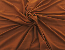 "Bamboo Spandex Fabric Jersey Knit by Yard DARK COPPER 60""W KH129 2/16"