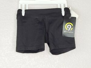 Champion C9 Duo Dry Girl's Black Short Stretch Athletic Shorts Size XS (4-5) New