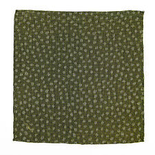 New NAPOLEON Handmade Black Gold Dots Silk Pocket Square Handkerchief MSRP $150