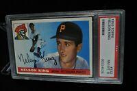 1955 Topps - Nelson King - #112 - PSA 8 - NM-MT