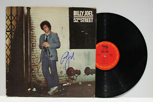 """Autographed Hand Signed BILLY JOEL Record Album Cover LP  """" 52nd Street """""""