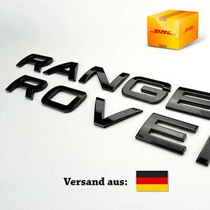 Range Rover Schriftzug Vogue Sport Evoque Schwarz Piano Glanz Black Schrift Neu