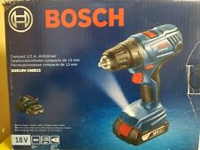 Bosch GSR18V-190B22 Compact Drill/Driver Kit New