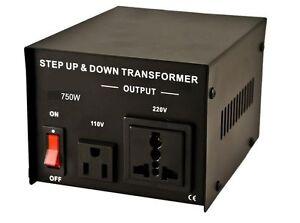VOLTAGE CONVERTER TRANSFORMER STEP UP / DOWN 750W 220v TO 110V & 110 V TO 220 V