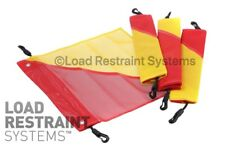 (4 Pack) Transport Vehicle Oversize Flags, Over Dimensional Flags, Oversize Load