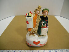 Vintage 1988 Schmid Celebration Plays White Christmas Music Box Holiday Shoppers
