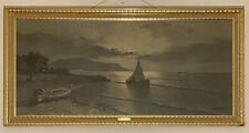"Vintage Turner Wall Art ""Moonlight Fisherman's Village"" By A.Torrielli Print"