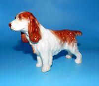 """VINTAGE CROWN DUCAL ENGLAND SPRINGER SPANIEL HUNTING DOG FIGURINE 6.5"""" X 4.25"""""""