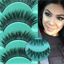 5 Pair 3D Eye Lashes Mink Natural Thick False Fake Eyelashes Makeup Extension AU