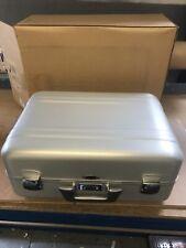 Brand New Vintage Zero Halliburton Aluminium Case With Combination Lock Rare