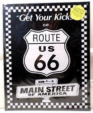 Get Your Kicks On Route Us 66 Main Stree Of America Tin Metal Bar Sign Garage
