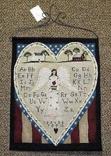 Americana Angel Sampler Tapestry Bannerette Wall Hanging