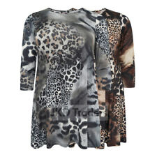 NEW WOMENS LADIES PLUS SIZE ANIMAL PRINT LONG TOP SIZES 14 16 18 20 22 24 26 28