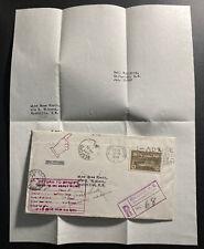 1949 Halifax Canada Return To Sender Registered Cover To Sackville W Letter