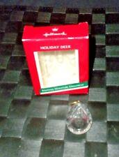 """1989 Hallmark Keepsake Acrylic Miniature Ornament """"Holiday Deer"""""""