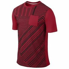 882743f66573 NIKE JORDAN AJ XI POCKET MEN S T-SHIRT SIZE Small RED BLACK 632300-