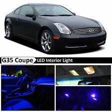 Blue Interior License Plate LED Lights Package Fits 2003-2007 Infiniti G35 Coupe