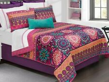 New Safdie & Co Printed Quilt Set Twin Juvenile Aiyana Purple