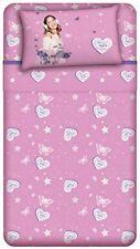 Completo letto singolo Disney Violetta rosa 100% cotone