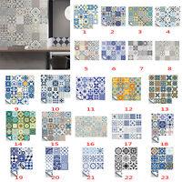 20Pcs Self Adhesive Tile Stickers Wall Sticker Art Decals Kitchen Bathroom Decor