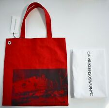 New CALVIN KLEIN 205W39NYC ANDY WARHOL Printed Canvas Museum SHOPPING TOTE Bag