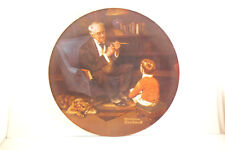 Vintage Edwin Knowles Collector Plate Bradex Norman Rockwell Tycoon
