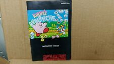 Kirby's Avalanche Super Nintendo SNES Instruction Manual Booklet ONLY Nice!