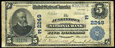 $5.00 1902 Blue Seal National Bank Jenkintown PA Charter 2249 ***LOOK***
