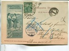 Argentina uprated illustrated postal card to Germany 1903, German postage due
