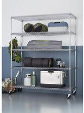 TRINITY Shelving Rack Storage 5 Tier Heavy Duty Wire Garage Kitchen Office Home