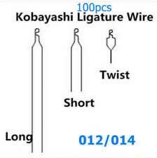 100pcs Dental Orthodontic Wires Kobayashi Ligature Bracket Long Short Twist Wire