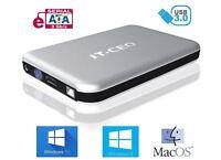 "IT735 USB 3.0 External Hard Drive Enclosure for 3.5"" SATA HDD w/ USB3 in Silver"