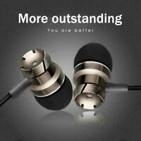 Bass Sound Earphones 3.5mm Jack Noise Isolation With Mic Metal Sport Bass S4F1