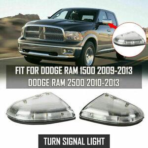 2x For Dodge Ram 1500 2500 3500 2010-13 Mirror Turn Signal Light LED Left&Right