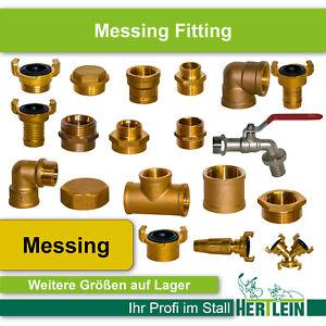 Messing Fittinge Wasserleitung Verschraubung Bogen Muffe Reduzierstück