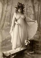 Antique Photo ... Fairy Queen Art Nouveau ... Photo Print 5X7