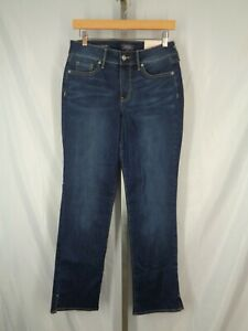 NYDJ Not Your Daughters Jeans Size 6 Marilyn Straight Slit Cuff Junipero New