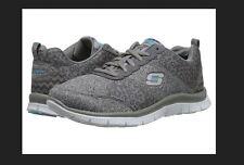New Women's 6.5 Grey Animal Print Tribeca Flex Appeal Tennis Shoes  SkecherS  #p