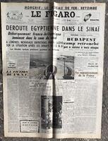 N137 La Une Du Journal Le Figaro 3 Et 4 Novembre 1956