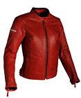 Richa DAYTONA Mujer Clásico Cuero Chaqueta moto motocicleta rojo
