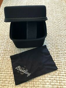 Breitling Watch Travel Storage Watch Box Watch Case Black Zip Up