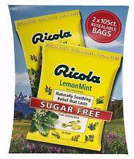 Swiss Ricola Lemon Mint Herb Throat Drops Sugar Free From Switzerland 210 Drops
