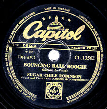 "SUGAR CHILE ROBINSON 78 "" BOUNCING BALL BOOGIE / NUMBERS BOOGIE "" CAP CL13562 E-"